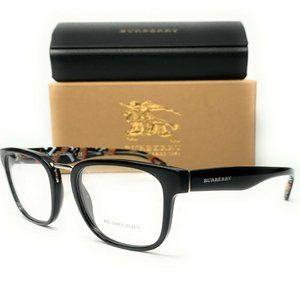 Burberry Men's Black Square Eyeglasses!